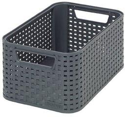 Curver pudełko do przechowywania, polipropylen, antracyt, 28,5 x 19,4 x 13 cm, 3 sztuki