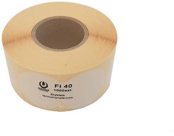 Zaklejki Range Solutions do tarczy - 40 mm 1000 szt. Białe (RAN-14-027069) G