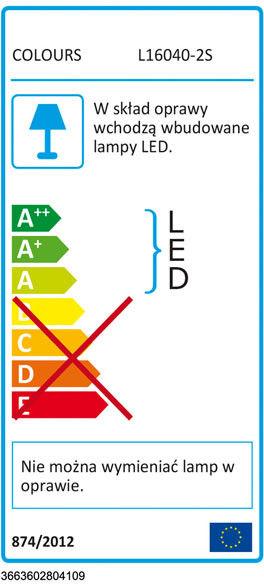 Spot listwa LED Colours Hades 2 x 4 W grafit