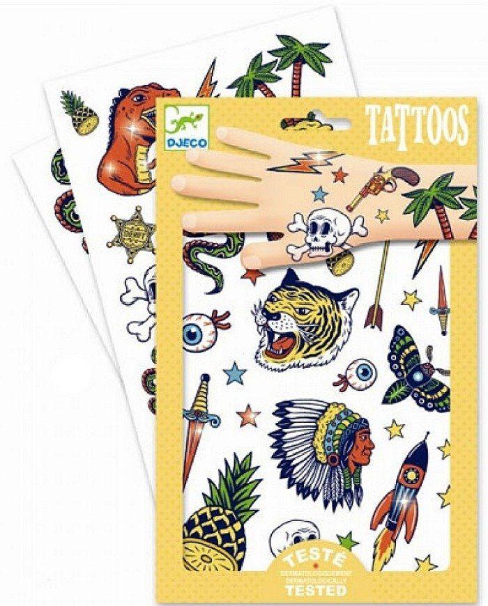 Tatuaże dla chłopców, Adventure, DJ09577-Djeco, tatuaże