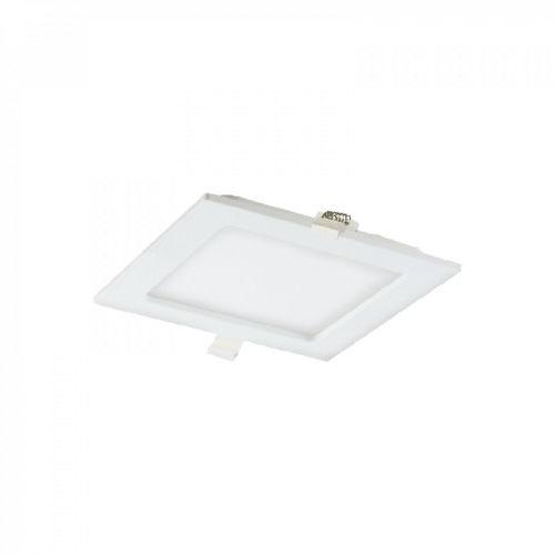 AKMAN LED 12W, oprawa downlight, podtynkowa, kwadratowa, 780lm, 3000K, biała, wbudowany zasilacz LED