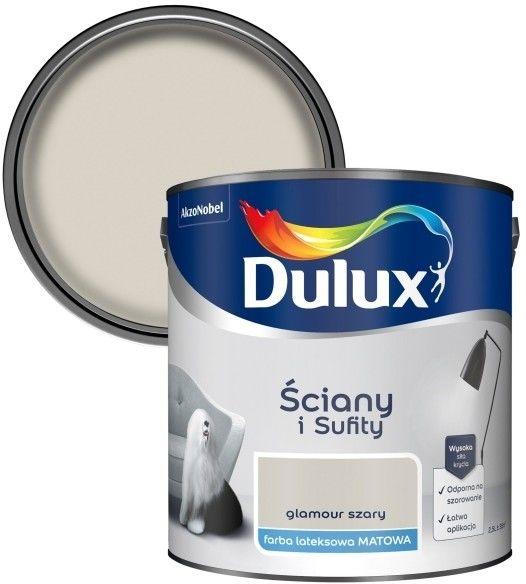 Farba Dulux Ściany i Sufity glamour szary 2,5 l