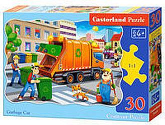 Puzzle Castor 30 - Śmieciarka, Garbage Car