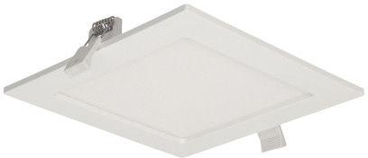 AKMAN LED 12W, oprawa downlight, podtynkowa, kwadratowa, 780lm, 4000K, biała, wbudowany zasilacz LED