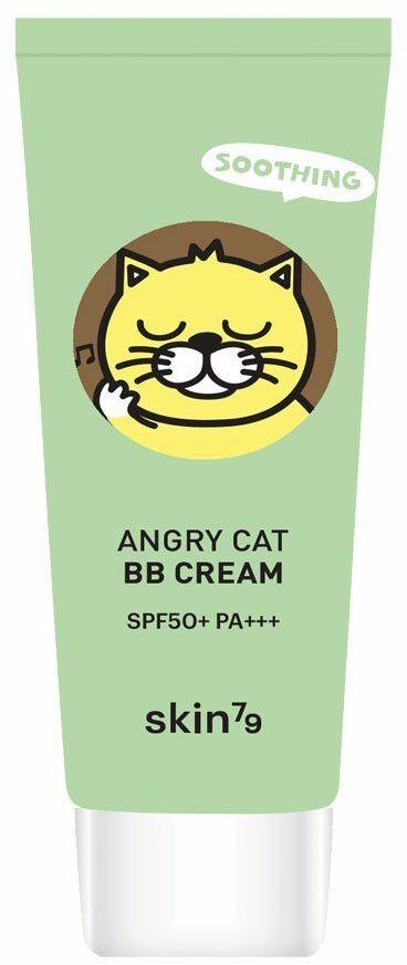 Kojący krem BB Animal BB Cream Angry Cat SPF 50 - Soothing (Petal Beige) 30 ml