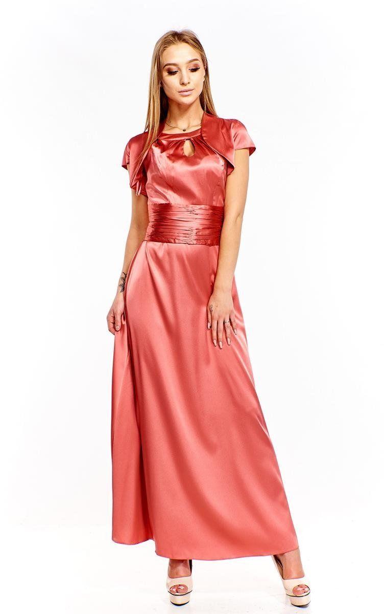 Sukienki Sukienka Suknie FSU168 CEGLASTY