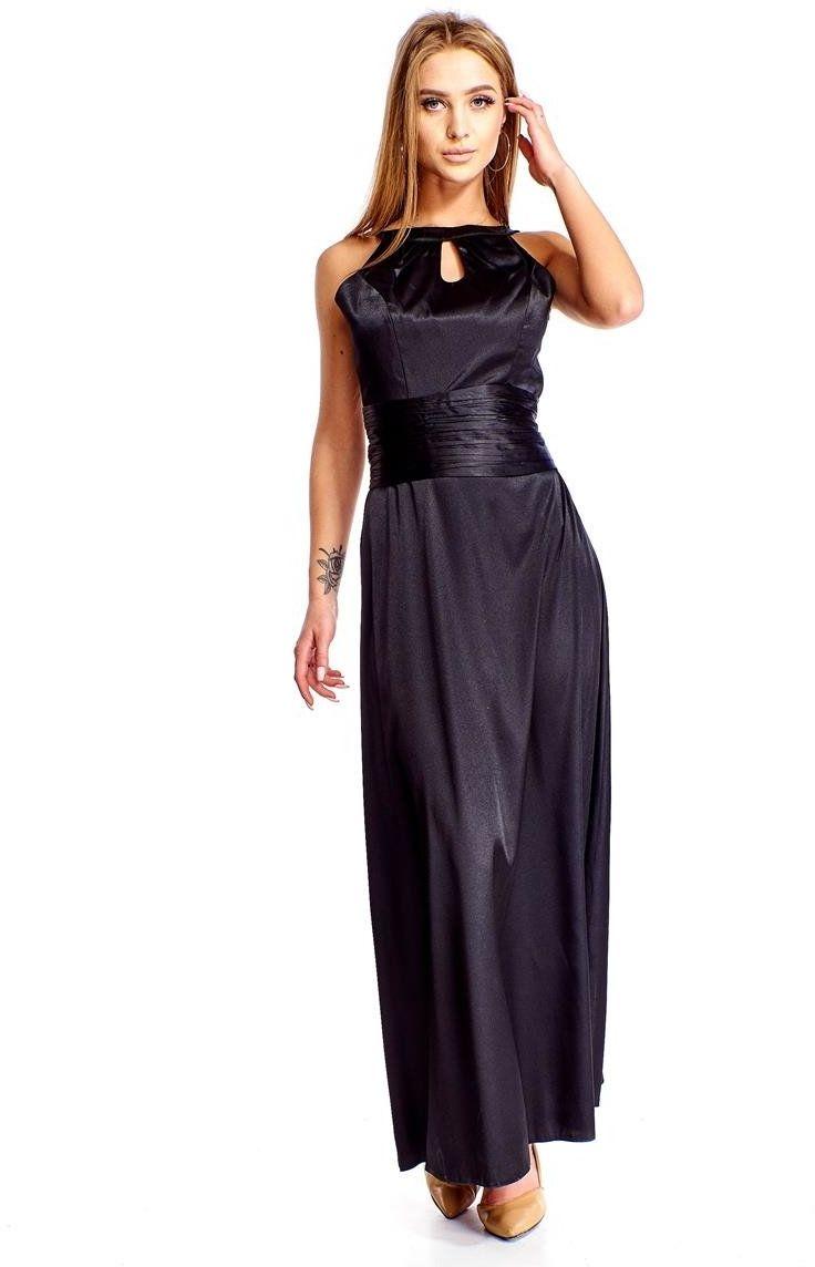Sukienki Sukienka Suknie FSU168 CZARNY