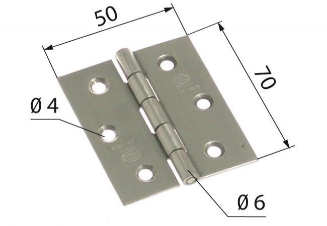 Zawias 2002-70x50 INOX