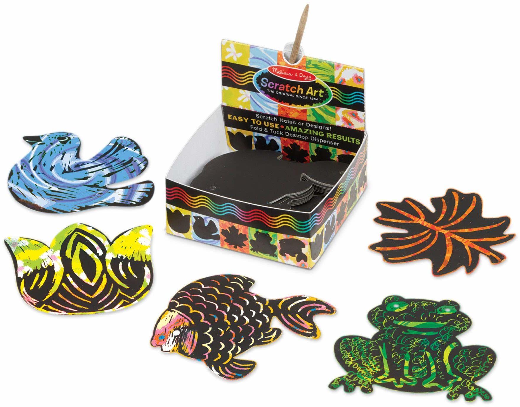 Melissa&Doug 42042 Natura mini karteczki Sztuka i rzemiosło zdrapka 4+ prezent dla chłopców lub dziewcząt