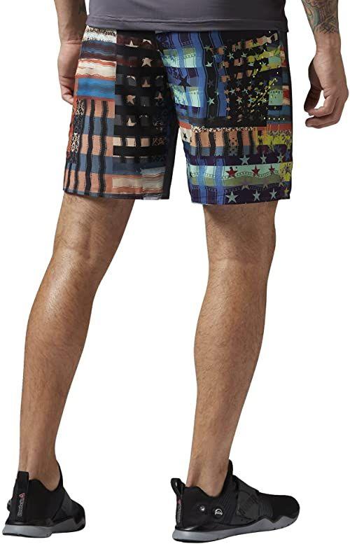 Reebok Męskie szorty ONE Series Running Graphic Boardshorts, Ash Grey, S