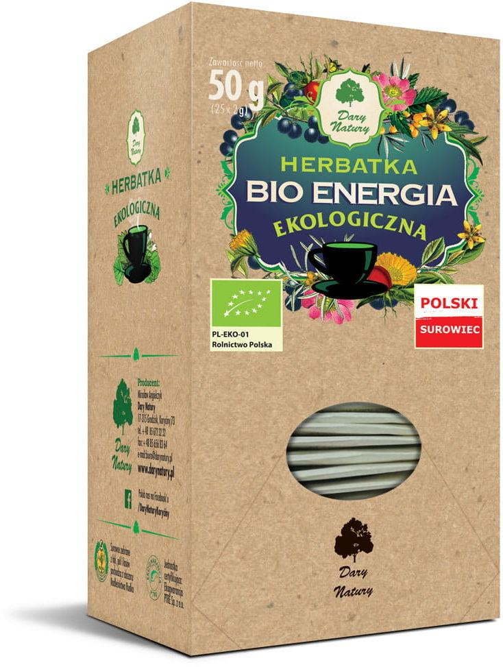 Dary Natury Herbatka Bio Energia EKO 25x2g