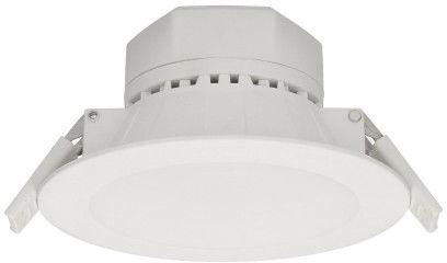 AURA LED 7W, oprawa downlight, podtynkowa, 520lm, 3000K, biała, wbudowany zasilacz LED