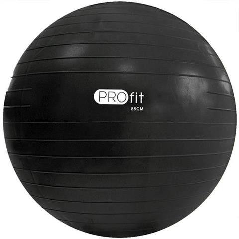 Piłka gimnastyczna PROfit z pompką 85 cm czarna