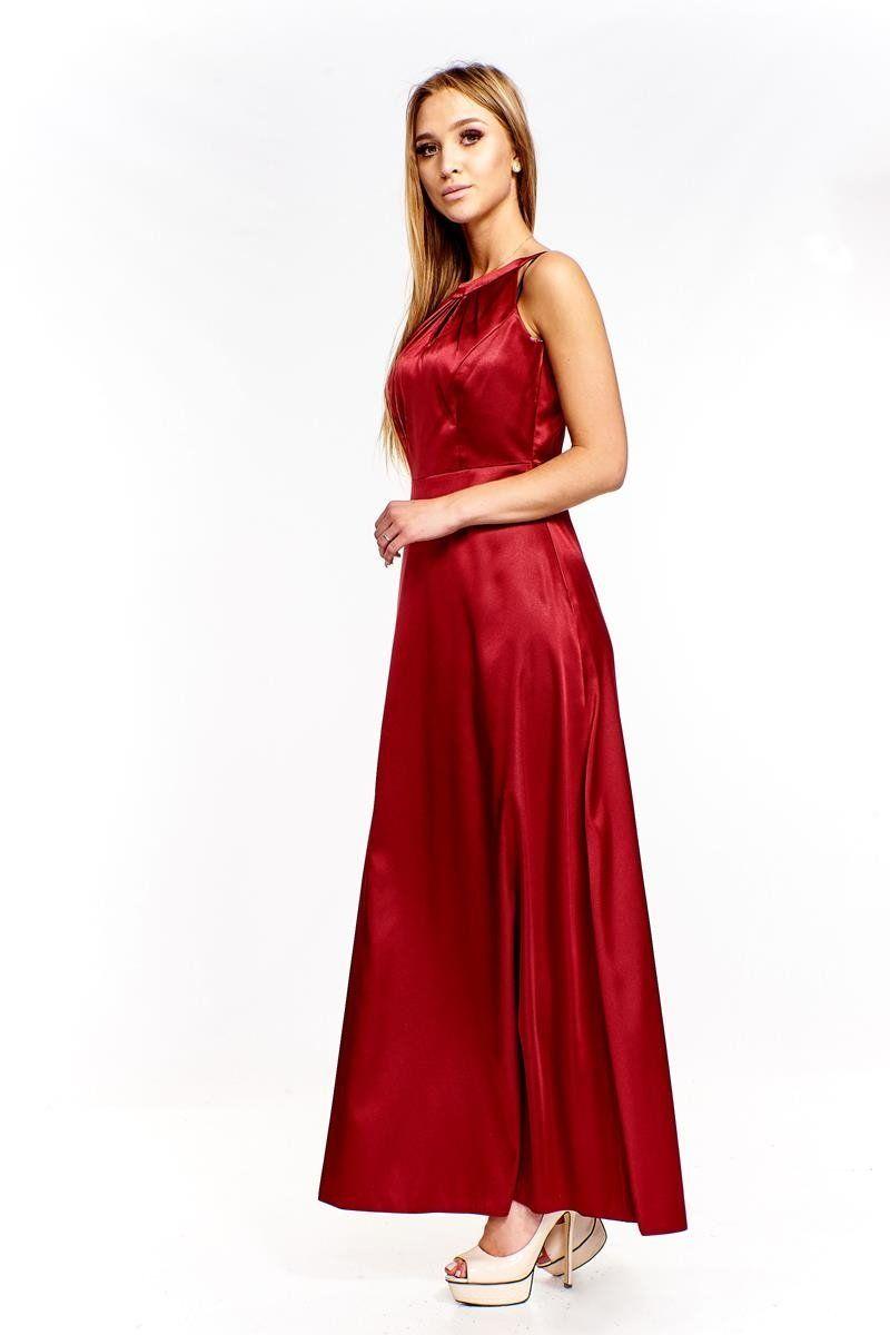 Sukienki Sukienka Suknie FSU168 BORDOWY