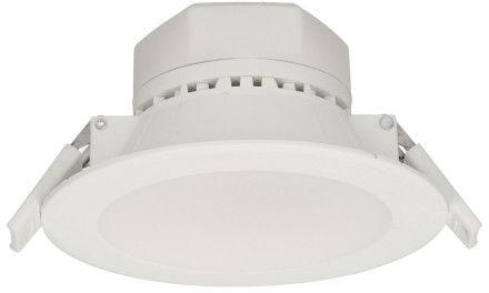 AURA LED 10W, oprawa downlight, podtynkowa, 850lm, 3000K, biała, wbudowany zasilacz LED