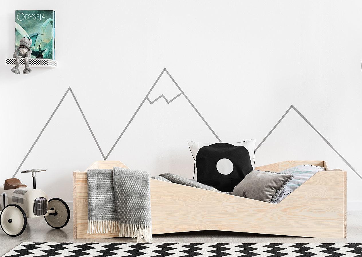 Drewniane łóżko dziecięce Lexin 6X - 21 rozmiarów