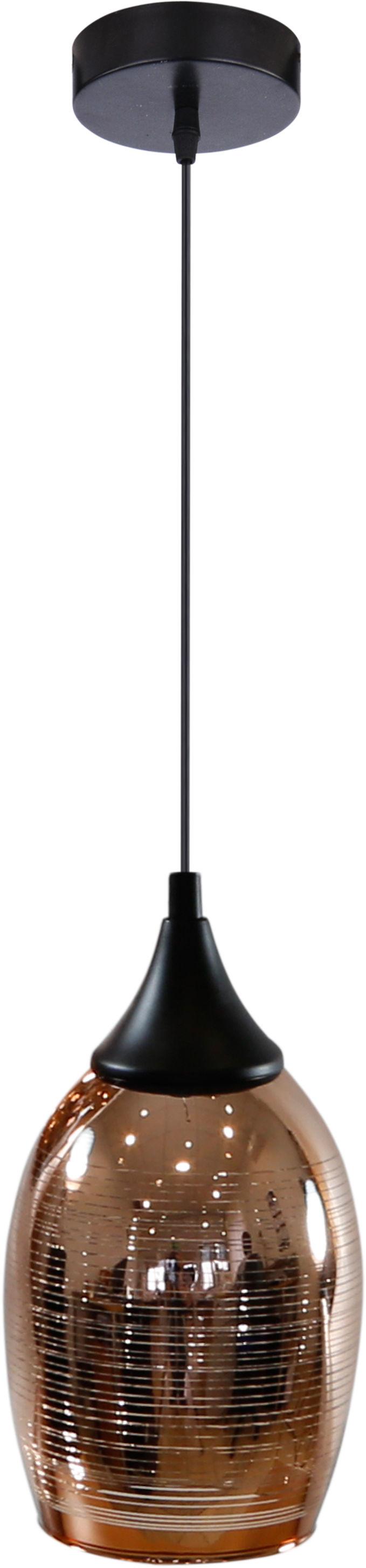 Candellux MARINA 31-51622 lampa wisząca szklany klosz miedziany 1X60W E27 14cm