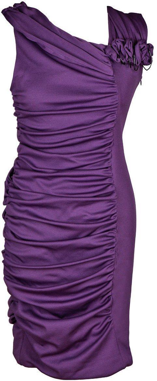 Sukienki Sukienka Suknie FSU198 ŚLIWKOWY