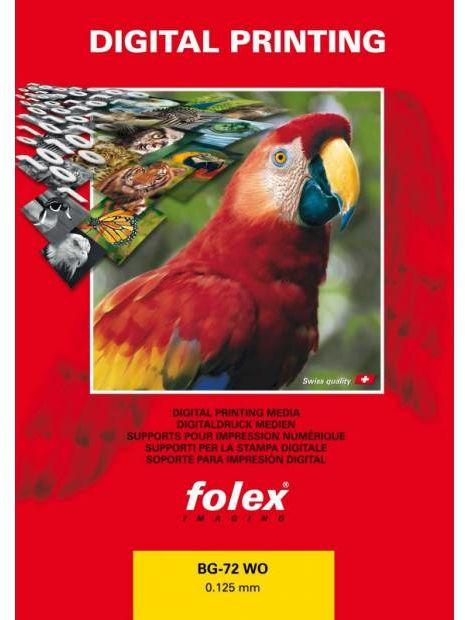 Folia FOLEX BG-72 WO - mlecznobiała, błyszcząca, 125 mic., A4 / 50 arkuszy (10479)