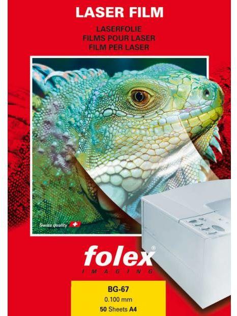 Folia FOLEX BG-67 - przezroczysta, błyszcząca, 100 mic., A4 / 50 arkuszy (10463)