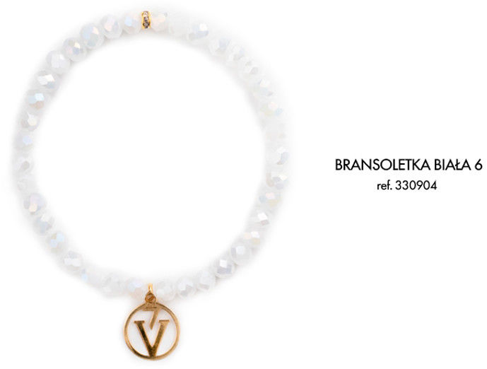 Bransoletka z Logo Victoria Vynn - połyskująca biel 6
