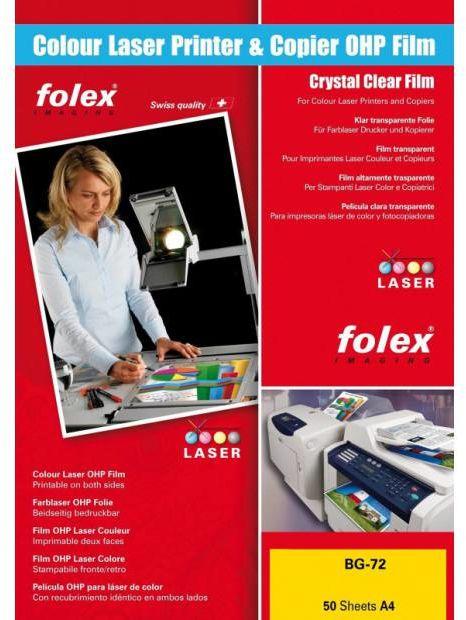 Folia FOLEX BG-72 - przezroczysta, błyszcząca, 125 mic., A4 / 50 arkuszy (10464)