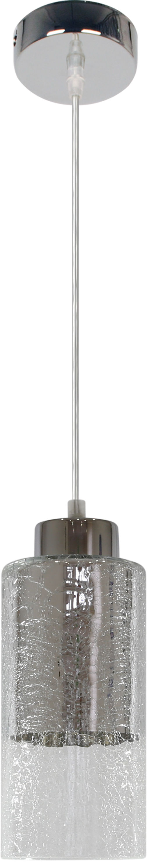 Candellux LIBANO 31-51646 lampa wisząca szklany klosz srebrna 1X60W E27 10cm