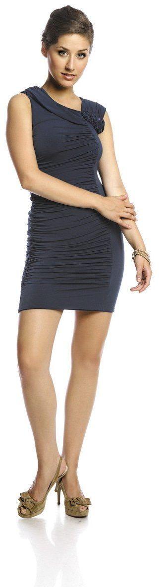 Sukienki Sukienka Suknie FSU198 GRANATOWY