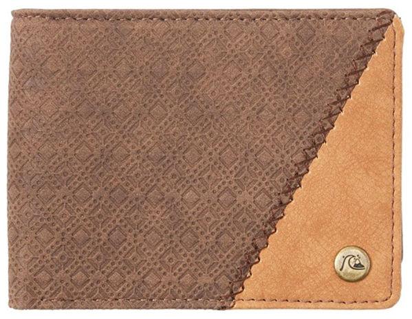 Quiksilver MOTIONS chocolate brown mężczyzna luksusowy portfel