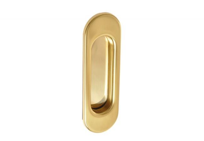 Uchwyt podłużny do drzwi przesuwnych wpuszczany bez otworu złoty