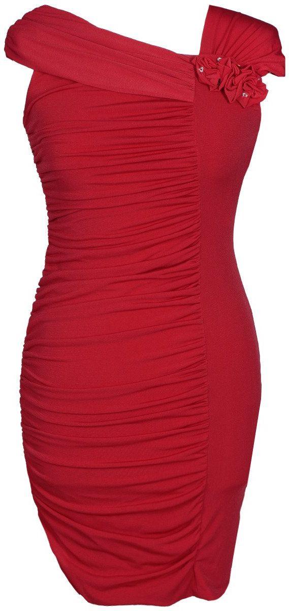 Sukienki Sukienka Suknie FSU198 CZERWONY