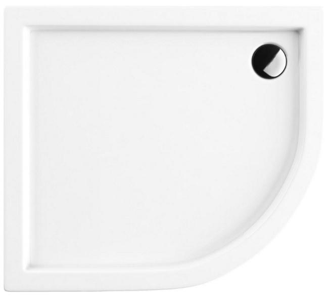 Omnires Riverside brodzik asymetryczny lewy 80x90 cm Riverside80/90/L