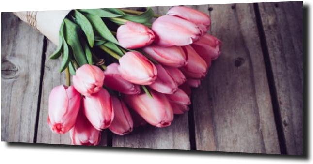 obraz na szkle, panel szklany Tulipany 4 120X60