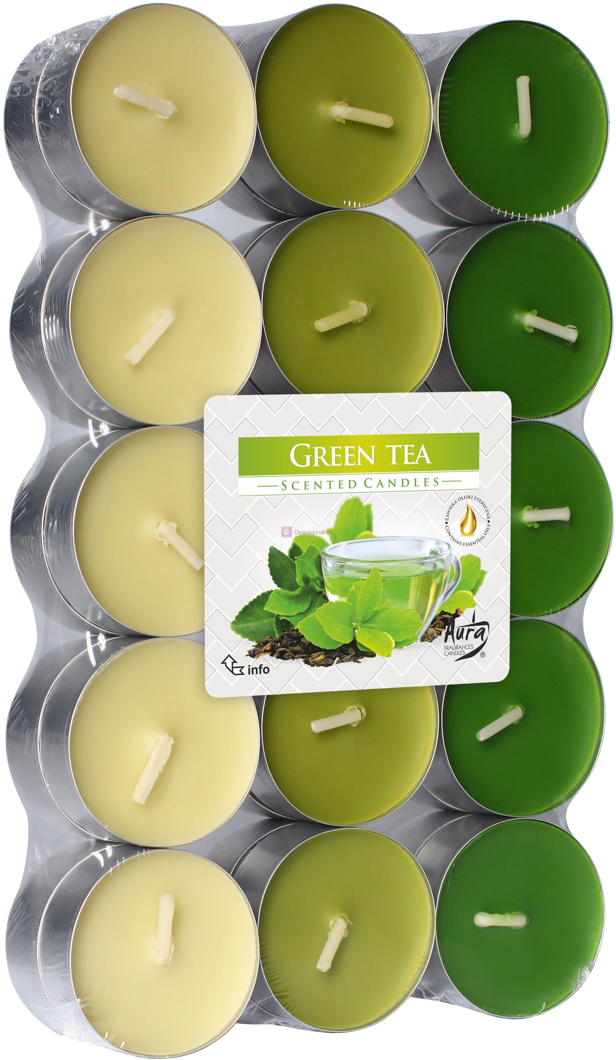 Podgrzewacze zapachowe 30szt - Zielona Herbata GREENTEA tealight