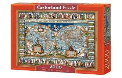 Puzzle Castorland 2000 - Mapa świata z 1639, Map of the world, 1639