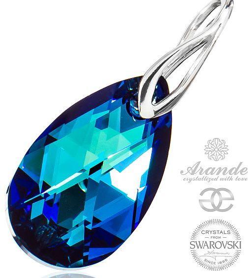 SWAROVSKI przepiękny wisiorek BERMUDA BLUE SREBRO