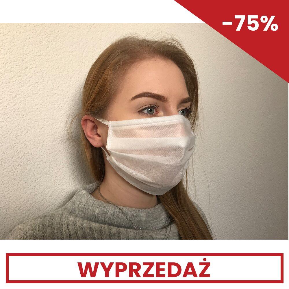 Maska włóknikowa biała - 4 warstwowa
