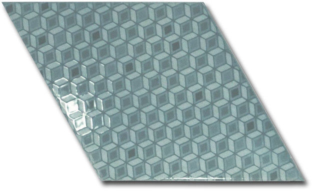Rhombus Wall Ash Blue Pattern 15,2x26,3