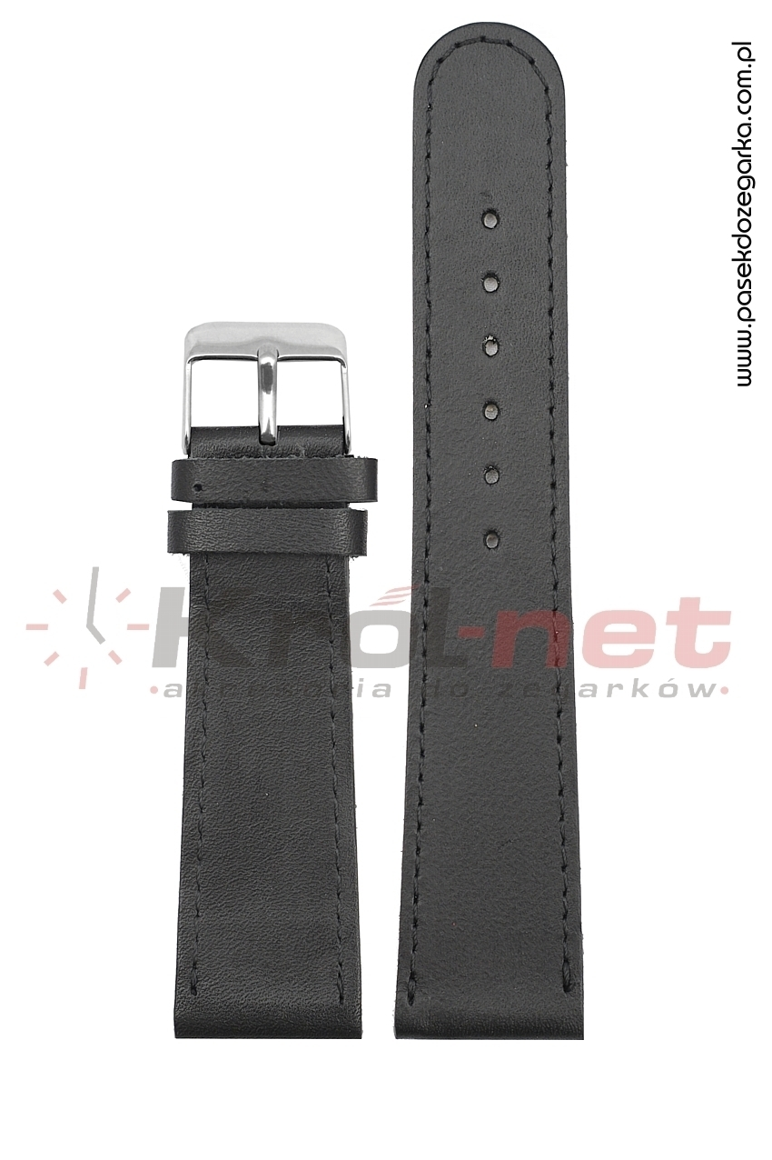 Pasek do zegarka PL3/22 - czarny, gładki