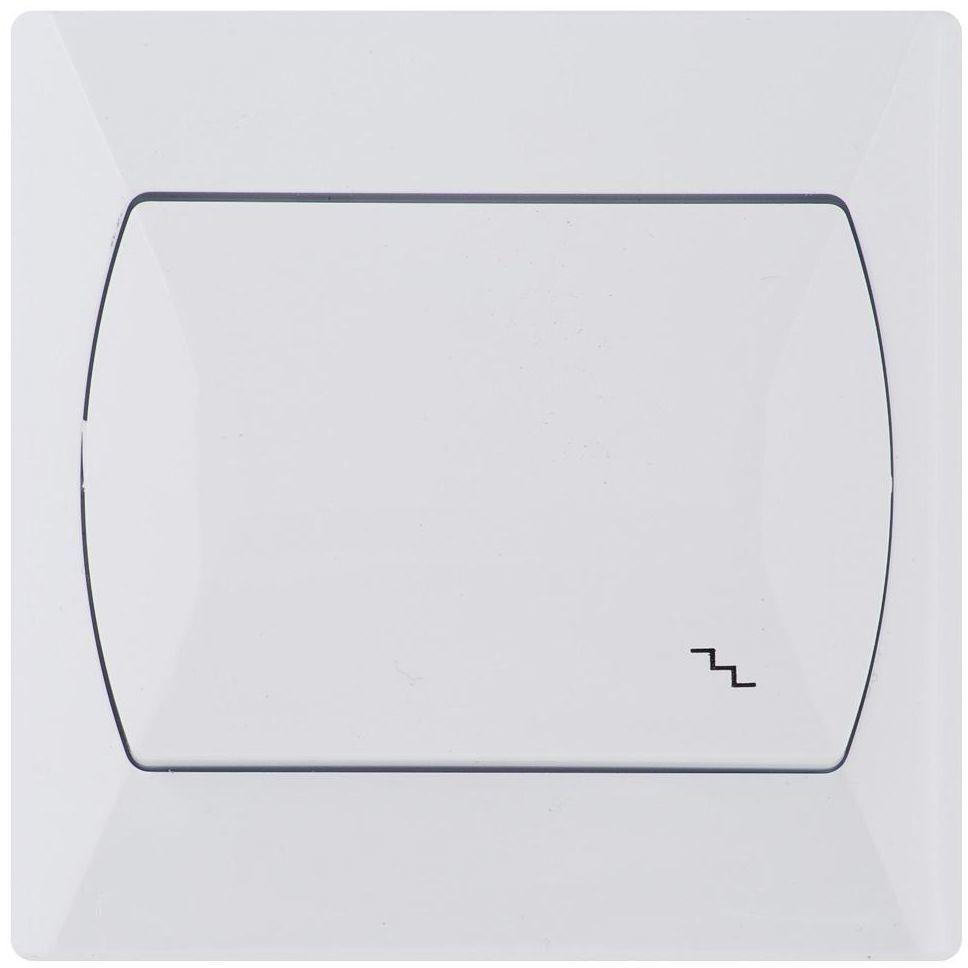 Włącznik pojedynczy schodowy AKCENT Biały OSPEL