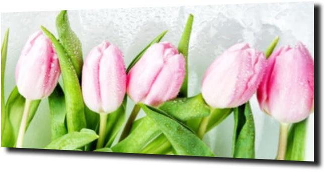 obraz na szkle, panel szklany Tulipany 7 180X60