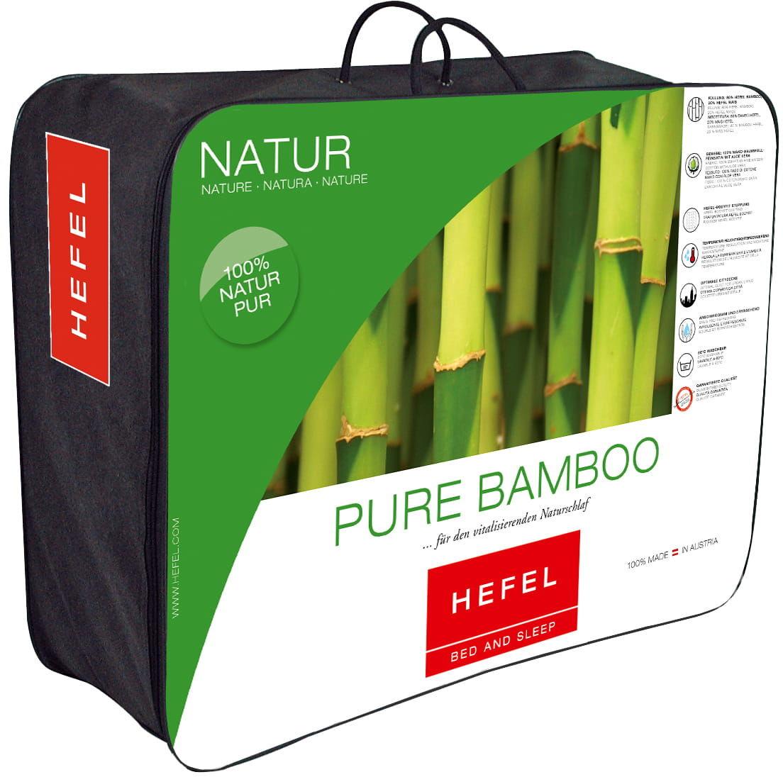 Kołdra 200x200 HEFEL Pure Bamboo Całoroczna