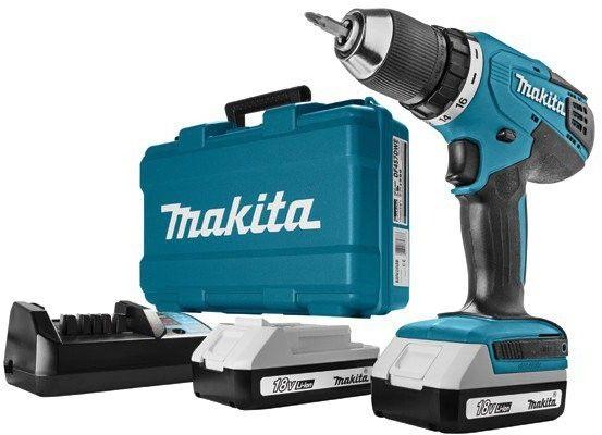 akumulatorowa wiertarko-wkrętarka 18V Makita [DF457DWE] Li-Ion, 2x1,3Ah