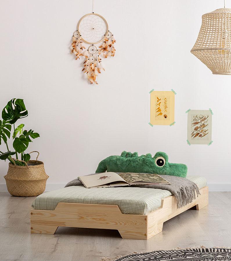 Drewniane łóżko dziecięce Lexin 9X - 21 rozmiarów