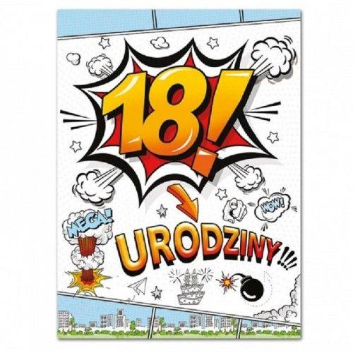 Etykieta na butelkę na 18 urodziny Cartoon, 25 szt.