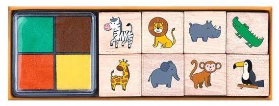 Stempelki Drewniane - Dzikie Zwierzęta - Afryka - Moses