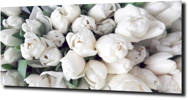 obraz na szkle, panel szklany Tulipany 9 125X50