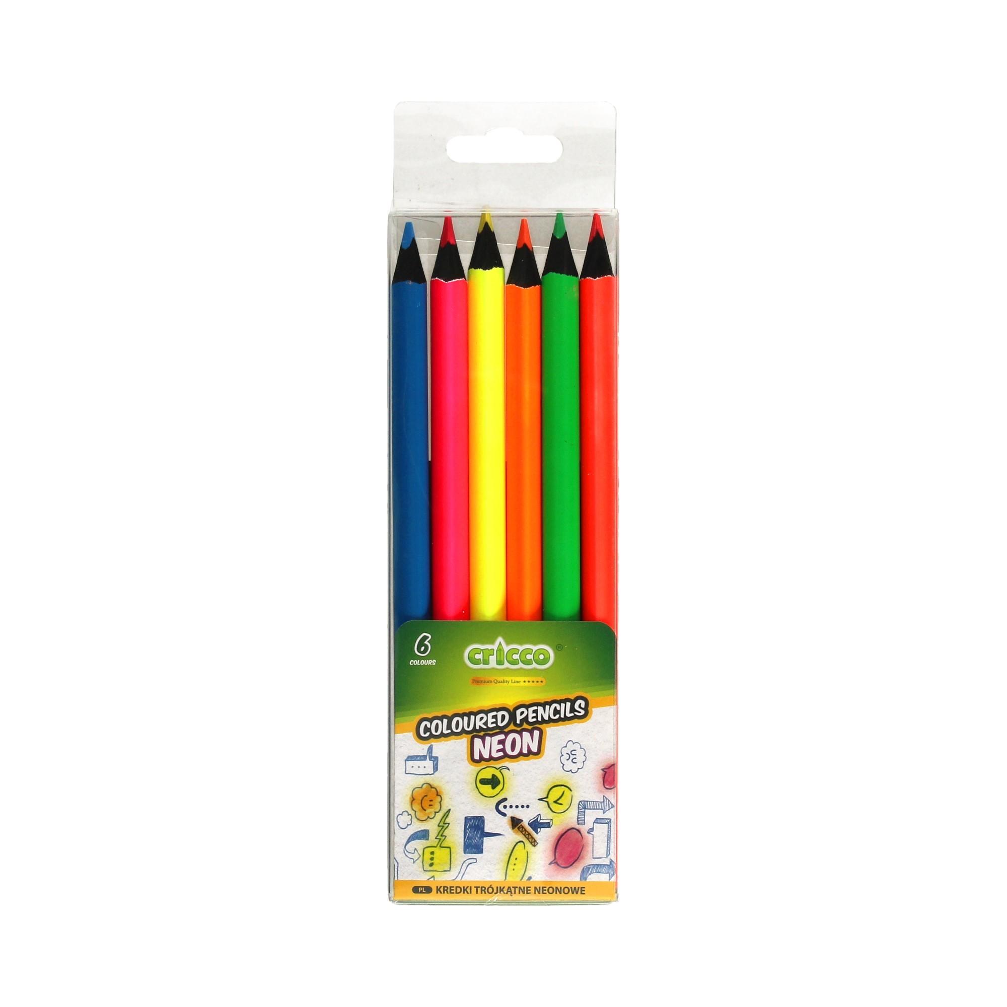 Kredki ołówkowe 6kol BlackWoodJumbo Cricco