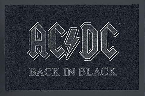 Rockbites Design 1012508710 wycieraczka z poliamidu, czarna, 40 x 60 cm