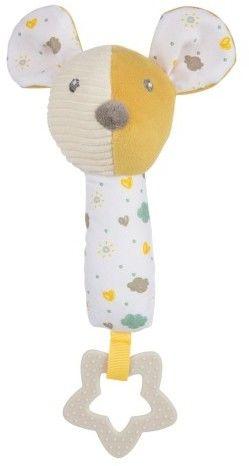 Canpol babies pluszowa zabawka z piszczkiem i gryzakiem MOUSE